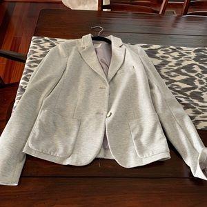 Sweatshirt material blazer